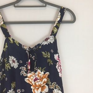 {PINK ROSE} NWT FLORAL TANK